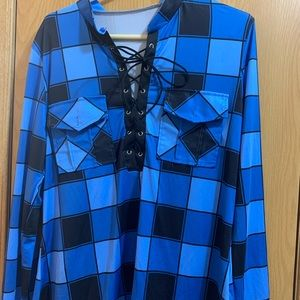 Tops - Fashion Plaid Print Long Sleeve top